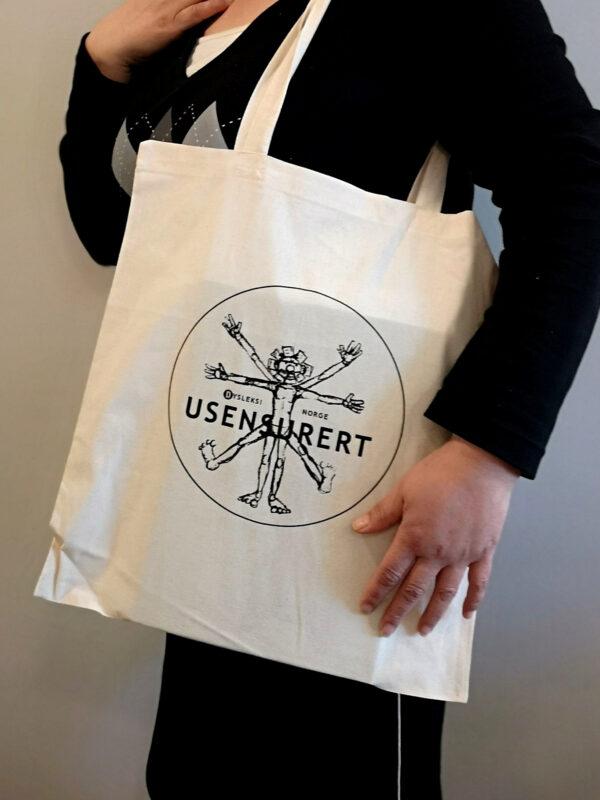 Handlenett med Usensurert-logo