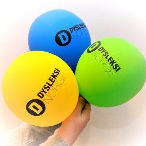 Ballonger med Dysleksi Norge-logo