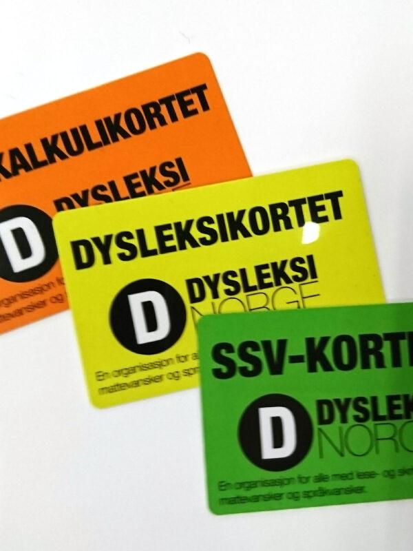 Tre ulike medlemskort