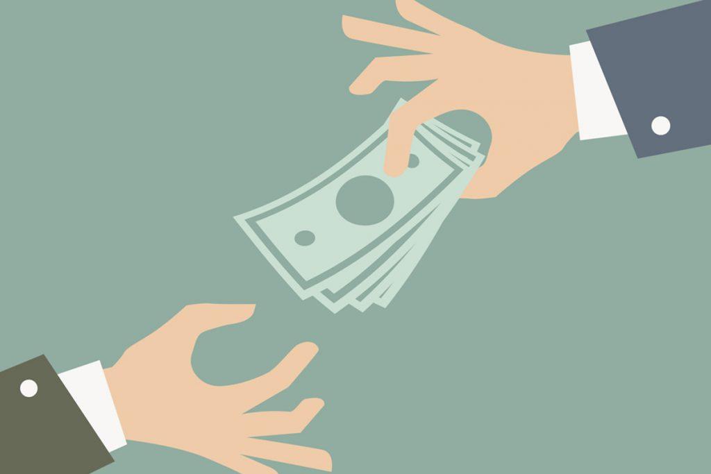 Penger skifter hender