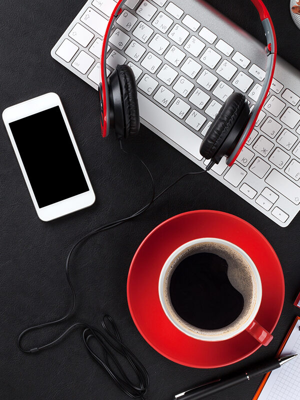 PC og mobiltelefon