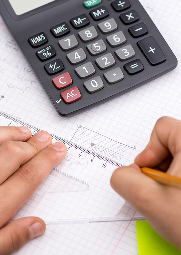Kalkulator og linjal